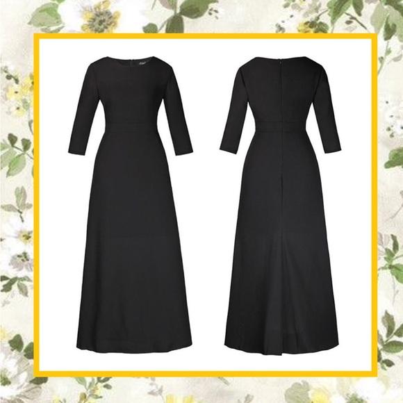8b125822dd Unique Styles dresses Dresses   Black Maxi Dress Long Sleeve Plain ...